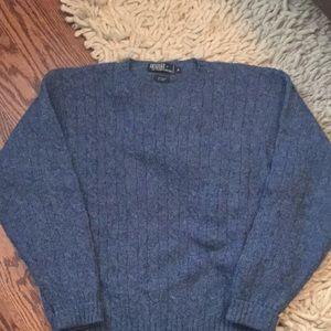 Men's Polo Blue Crew Neck Sweater